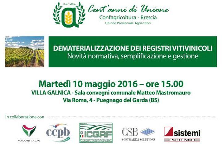 Convegno Dematerializzazione dei Registri Vitivinicoli