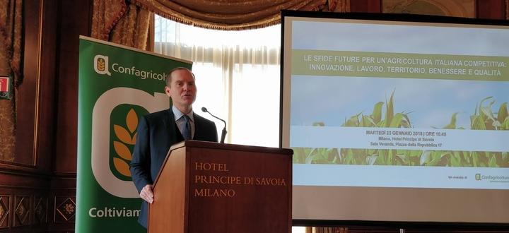 Le sfide future per un'agricoltura italiana competitiva: innovazione, lavoro, territorio, benessere e qualità