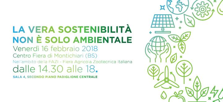 La vera sostenibilità non è solo ambientale