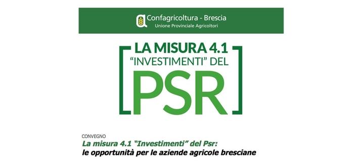 """CONVEGNO La misura 4.1 """"Investimenti"""" del Psr: le opportunità per le aziende agricole bresciane"""