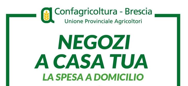 """Prodotti alimentari a domicilio, Confagricoltura Brescia aderisce all'iniziativa regionale """"Negozi a casa tua"""""""