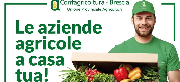 """""""Aziende agricole a casa tua!"""", l'iniziativa di Confagricoltura per la consegna a domicilio dei prodotti delle cascine bresciane"""
