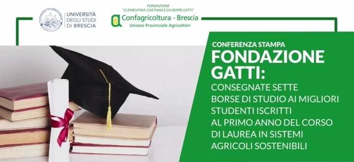 Fondazione Gatti: consegnate sette borse di studio ai migliori studenti iscritti al primo anno del Corso di Laurea in Sistemi Agricoli Sostenibili