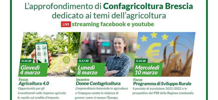 """Al via il ciclo """"Gli speciali dell'Agricoltore Bresciano"""" organizzati da Confagricoltura Brescia"""