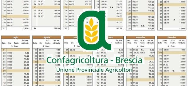 Tabelle paga operai agricoli e florovivaisti e calendario 2019