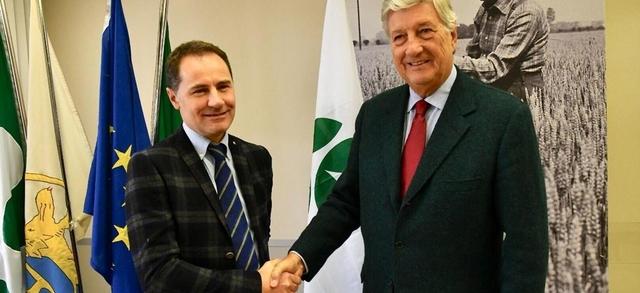 Giovanni Garbelli è il nuovo presidente di Confagricoltura Brescia Francesco Martinoni nominato presidente onorario