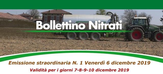 Bollettino Nitrati straordinario N. 1