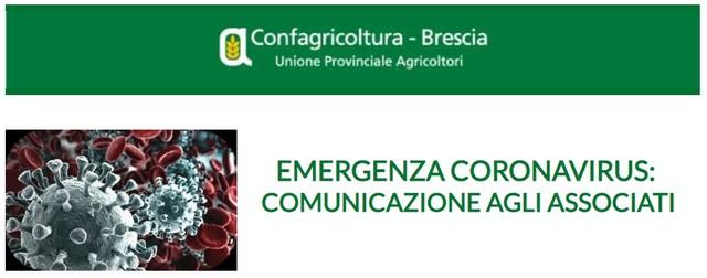 EMERGENZA CORONAVIRUS: comunicazione agli Associati