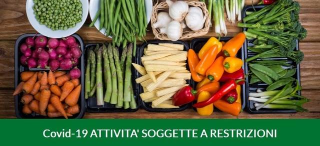 Covid-19 ATTIVITA' SOGGETTE A RESTRIZIONI