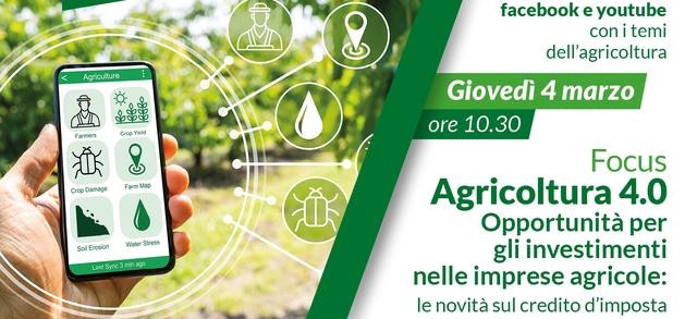 Agricoltura 4.0 Opportunità per gli investimenti nelle imprese agricole: le novità sul credito d'imposta